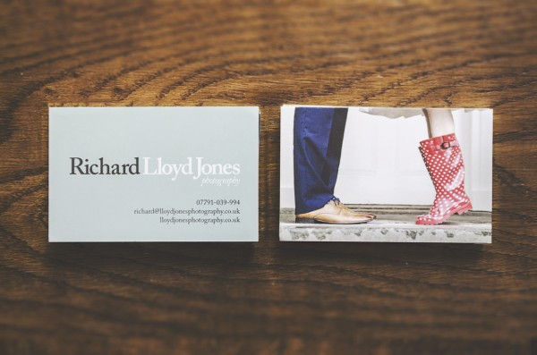 Richard Lloyd Jones Photography business cards front and back