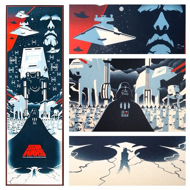 The Empire Strikes Back movie poster by Eric Tan
