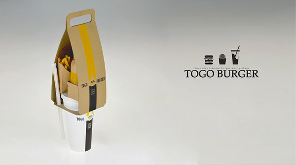 Togo ultra convenient creative and stylish burger packaging