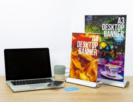 creative ideas for using solopress desktop roller banners