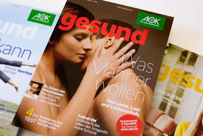 fonts for the health and wellness industry are featured in this example from germany