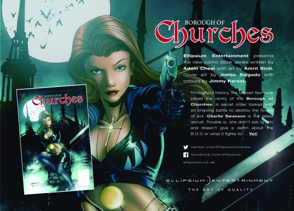 Comic Con flyers for Borough of Churches