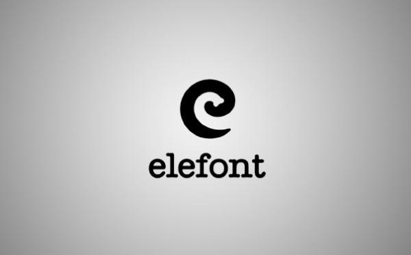 clever logo design Elefont