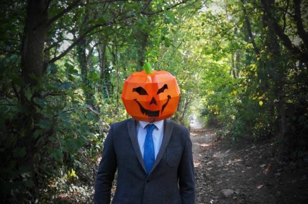 Halloween pumpkin 3D papercraft mask