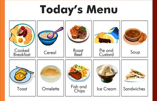 dementia friendly print menu