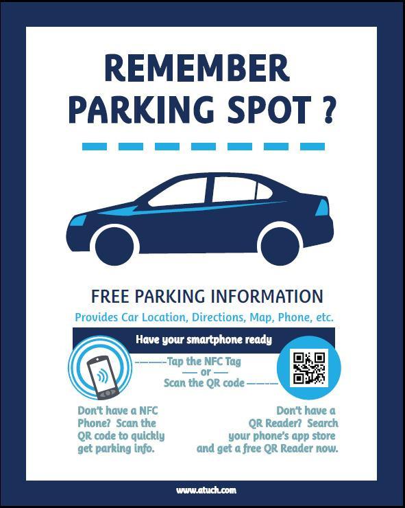 nfc high tech print car park poster