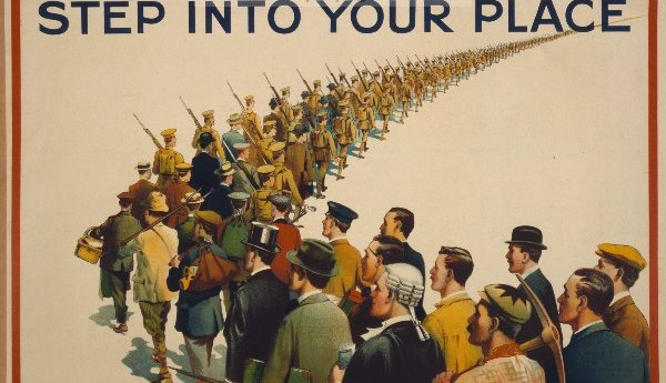 step into your place print in the trenches ww1 posters