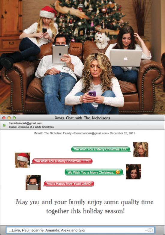 digital creative and funny christmas card ideas