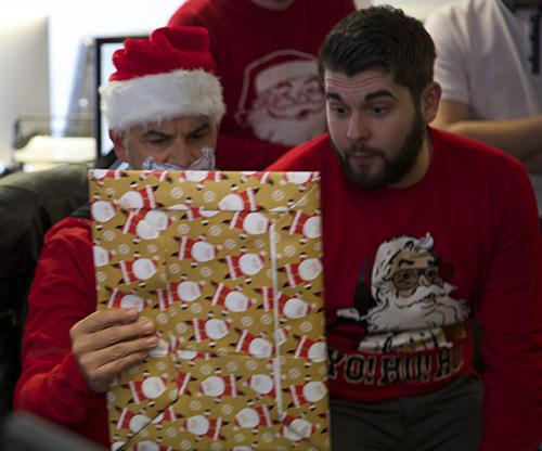 secret santa solopress at christmas