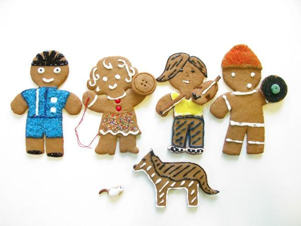 gingerbread people christmas card