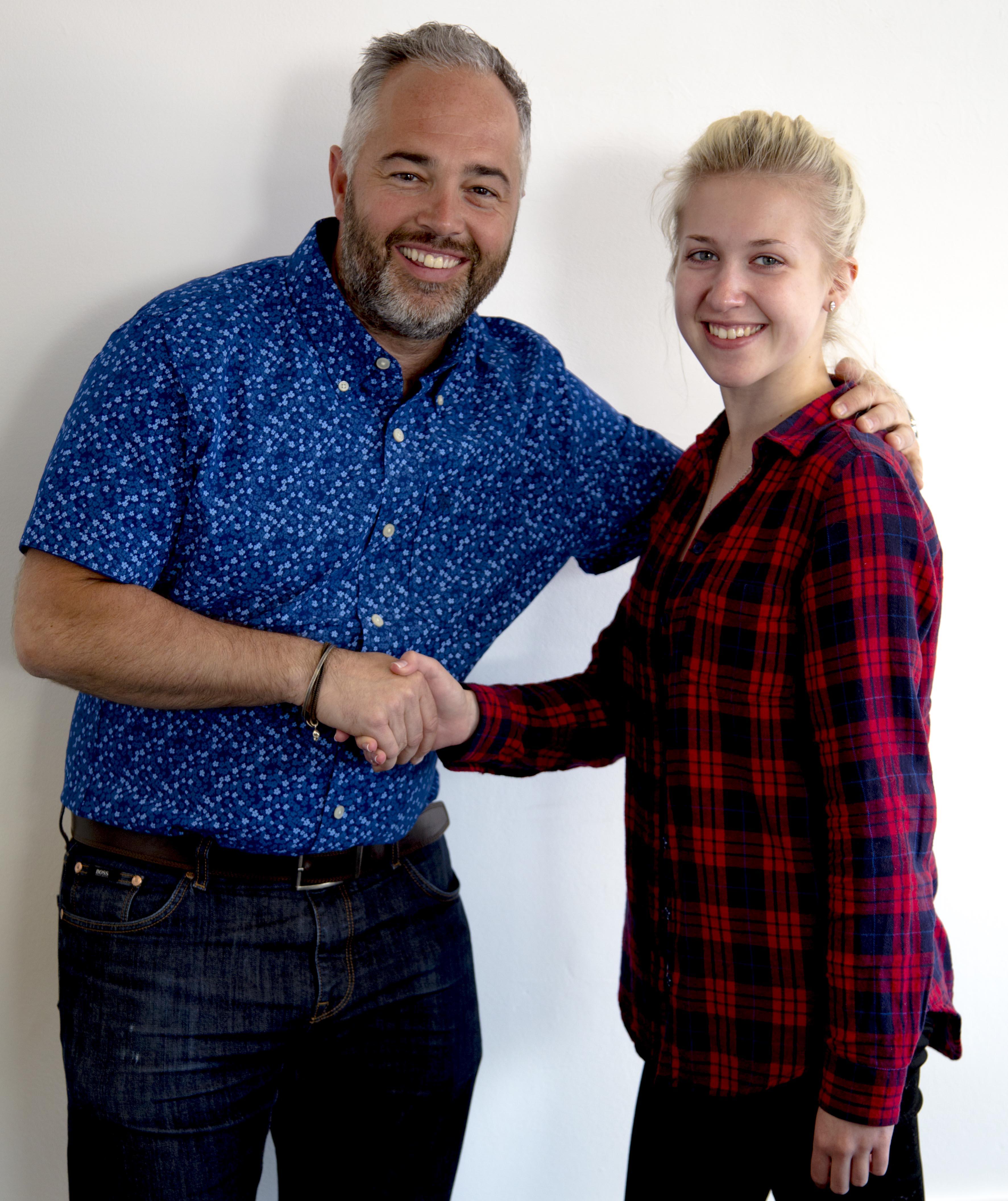 CEO Aron and Ellen