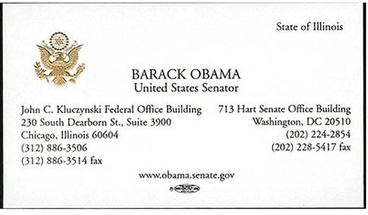 Barack Obama's Business Card