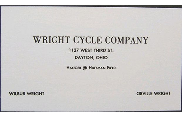 Wright Brothers' Business Cards