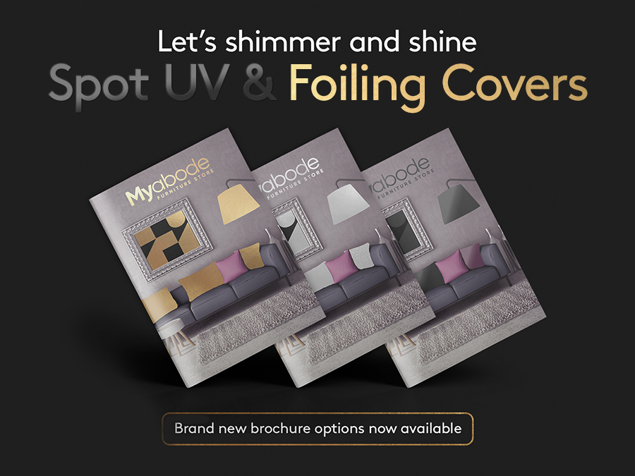 Spot UV and foiling