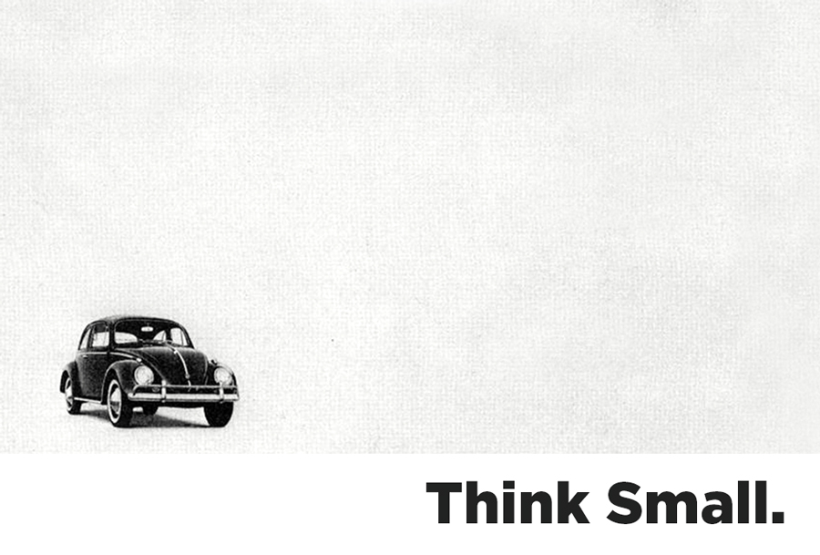 Think Small - Volkswagen award winning campaign