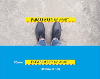 1m Social Distancing Floor Tape