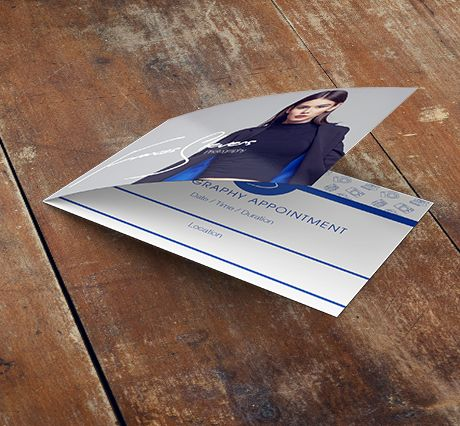 350gsm Gloss Laminated Folded Appointment Cards