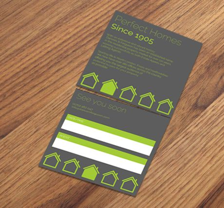 400gsm Matt Laminated Perforated Appointment Cards