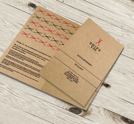 457mic Brown Kraft Paper Perforated Appointment Cards