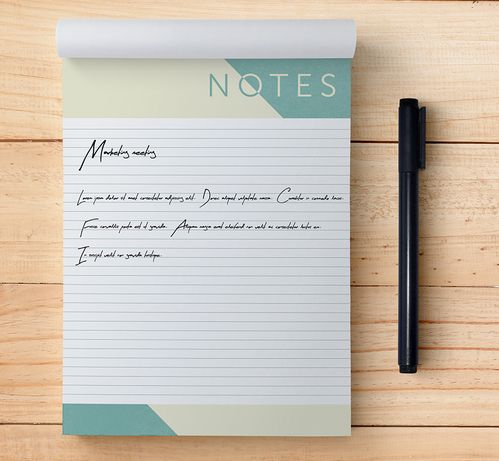 Note and Desk Pads