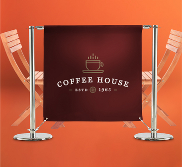 Cafe Barriers Vinyl Banners