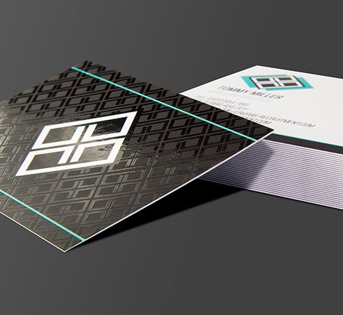 400gsm Spot UV Matt Laminated Business Cards