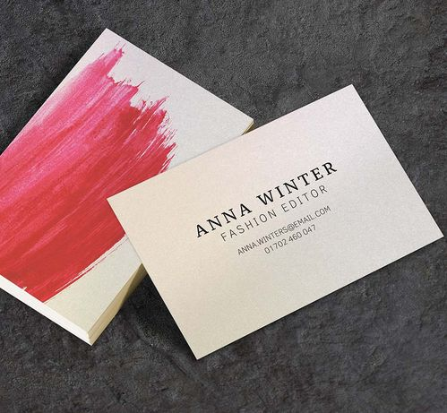 400gsm Gold Dust Iridescent Business Cards