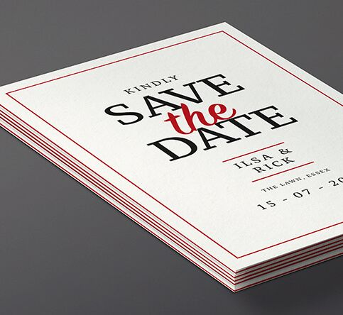 810gsm Triple Layer Save the Date Cards