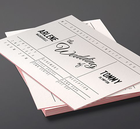 810gsm Triple Layer Invitations