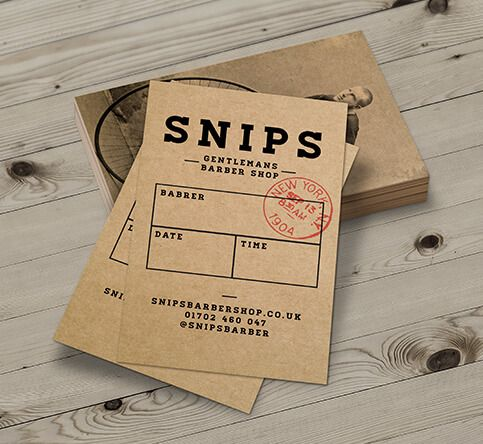 457mic Brown Kraft Paper Appointment Cards