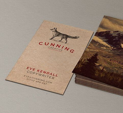 457mic Brown Kraft Paper Business Cards