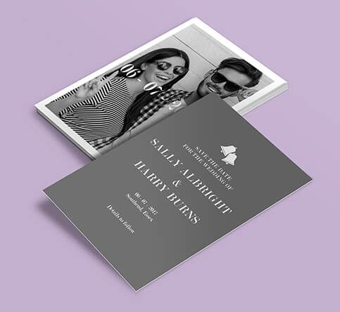 400gsm Matt Laminated Save the Date Cards