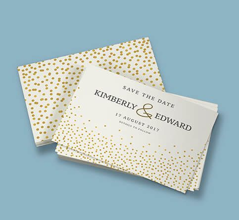 400gsm Silk Save the Date Cards