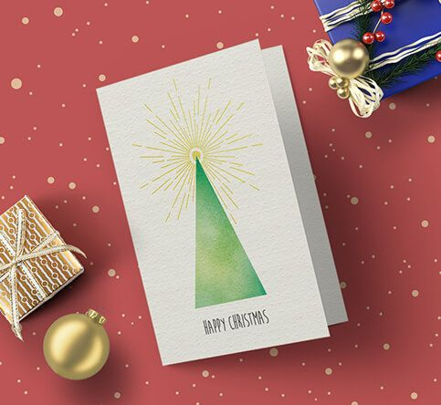400gsm Textured Dot Christmas Cards