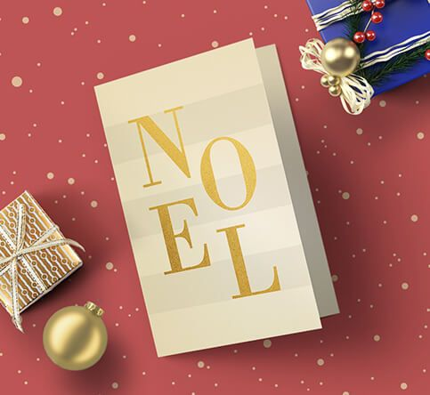 400gsm Gold Haze Iridescent Christmas Cards