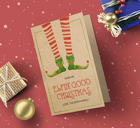 457mic Brown Kraft Paper Christmas Cards