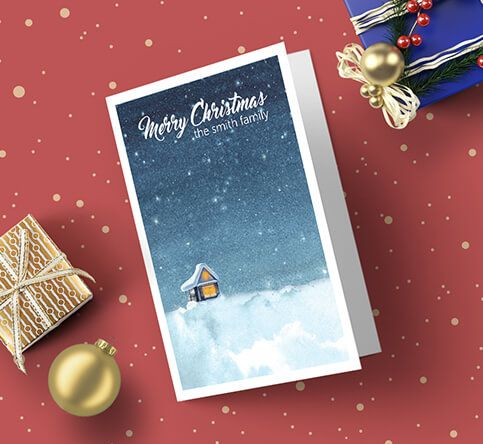 350gsm Matt Laminated Christmas Cards