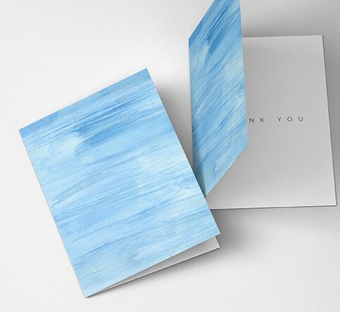 350gsm Silk Greeting Cards