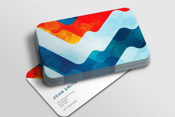 Rounded corner business cards free next day delivery solopress reheart Choice Image
