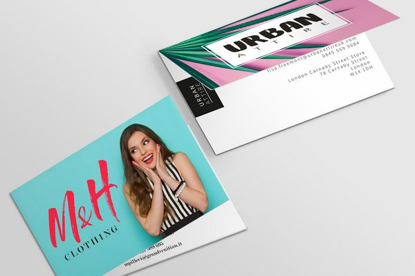 Folded business cards order with free delivery solopress uk reheart Gallery