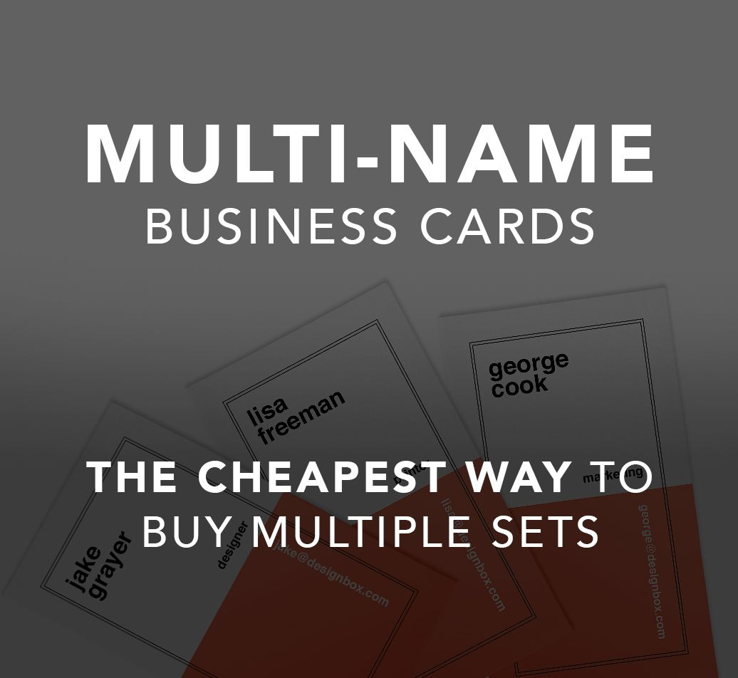 400gsm Silk Multi Name Business Cards